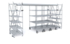 Space Saving Top Track Overhead Shelving System