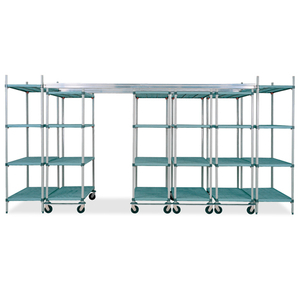 Anti-Microbial Polymer Shelving Foodservice Food contact storage shelving
