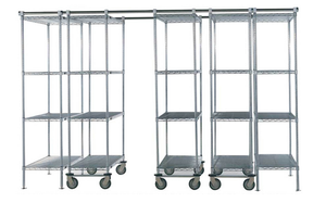 High Density Double Deep Sliding Track Wire Shelving Storage System