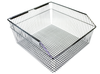 Custom Chrome Medical Facility Wall Storage Wire Basket with Louver Panels