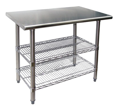 SS304 Wire shelving Kitchen Workstations with Adjustable Wire Shelves
