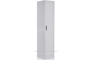 Metal Armoire Wardrobe with 1 Single Door-vertical Swing Door & Shelf