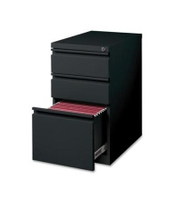 "21"" Deep 3 Drawer Metal Floor Pedestal Cabinet File Cabinet, Black"